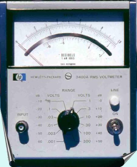 True Rms Voltmeter hp 3400a Rms Voltmeter