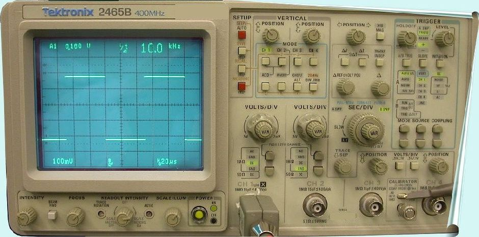 Amp On An Oscilloscope : Tektronix b oscilloscope