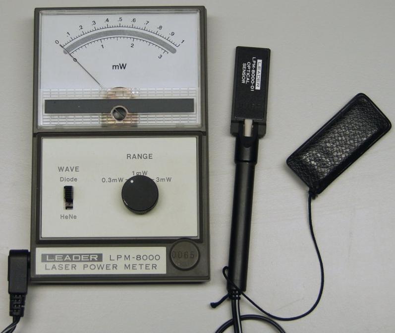 Laser Power Meter : Leader lpm laser power meter